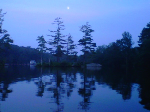 Kayaking Megunticook River in July, Maine Island Full Thunder Moon