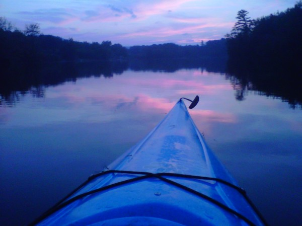 Kayaking Megunticook River, Maine Sunset